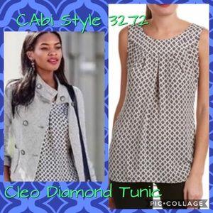 CAbi Cleo Diamond Tunic/Top, Size M Style 3272 EUC